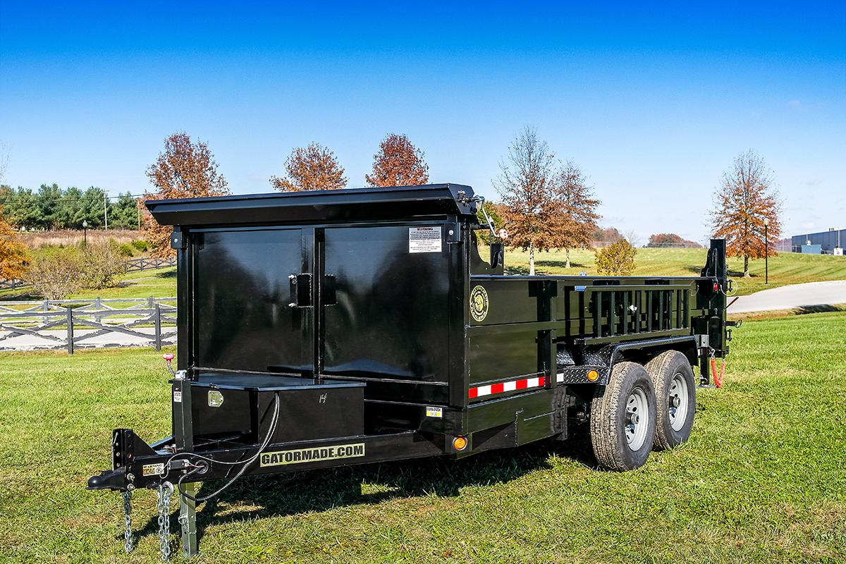 7x14 14k bumper pull dump trailer gatormade trailers 1 swarovskicordoba Image collections