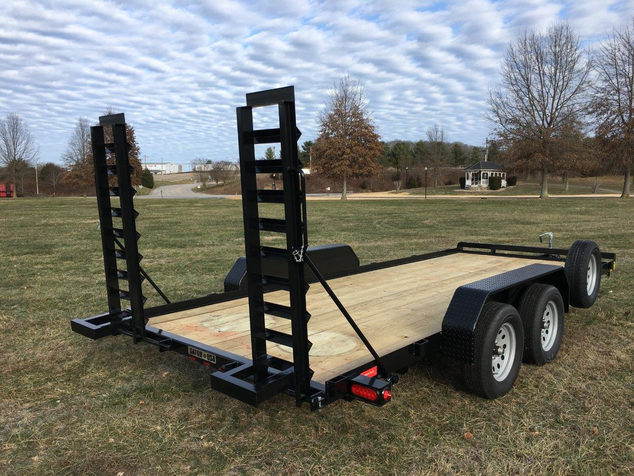 Flatbed Car Hauler Trailer Stand Up Ramps Gatormade