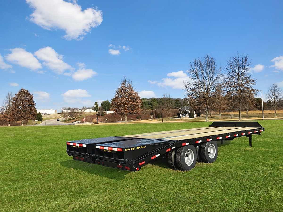 Pintle Hitch Equipment Trailers Wide Ramps Gatormade