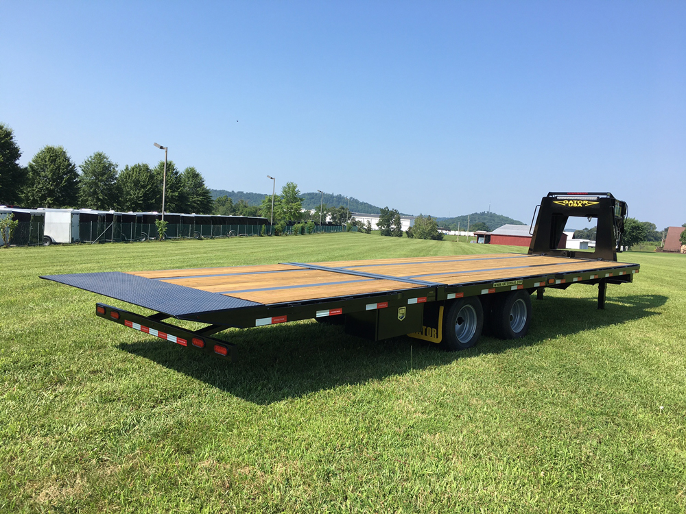 gooseneck trailer with hydraulic dovetail gatormade trailers. Black Bedroom Furniture Sets. Home Design Ideas