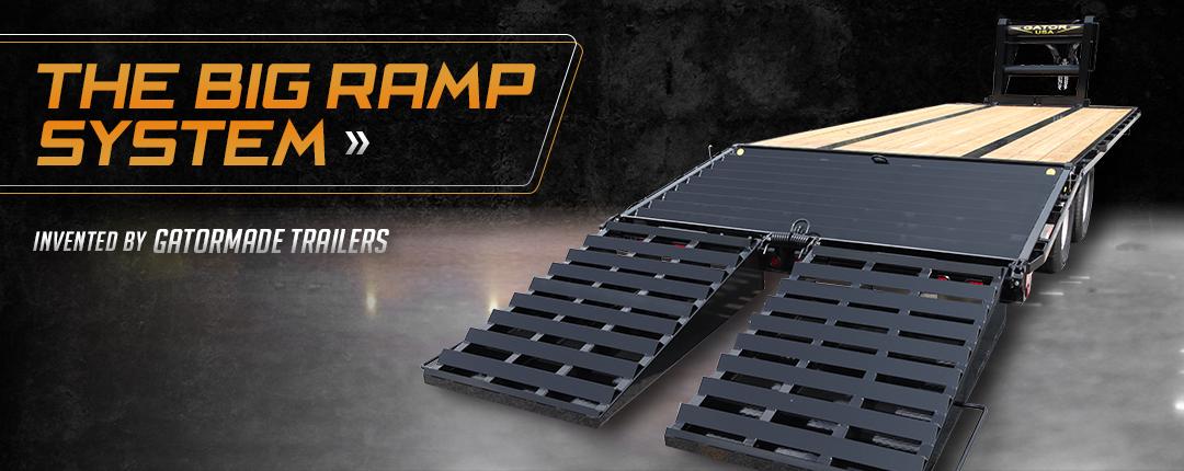 big ramp trailer system