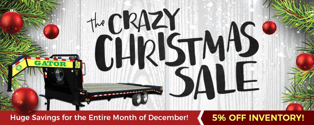 crazy christmas sale banner