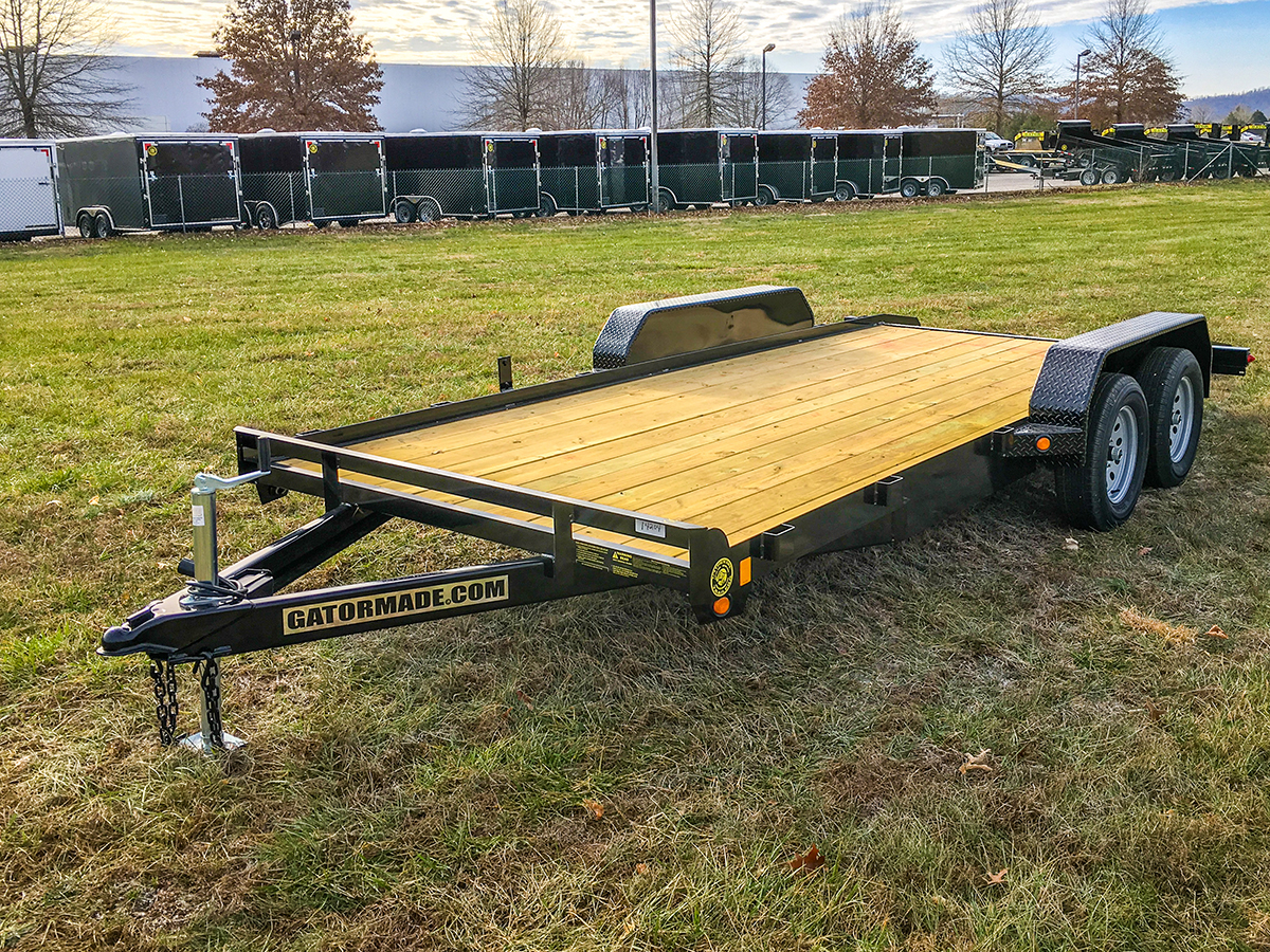 Flatbed Car Hauler Trailer With Dovetail Gatormade