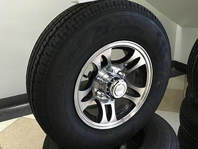 Aluminum Wheels 6 Lug Tandem Axle