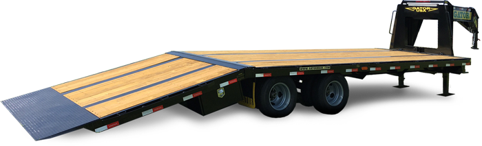 Gooseneck trailer with hydraulic dovetail gatormade trailers gatormade anti flex system durable powder coat finish nationally top rated trailers swarovskicordoba Images