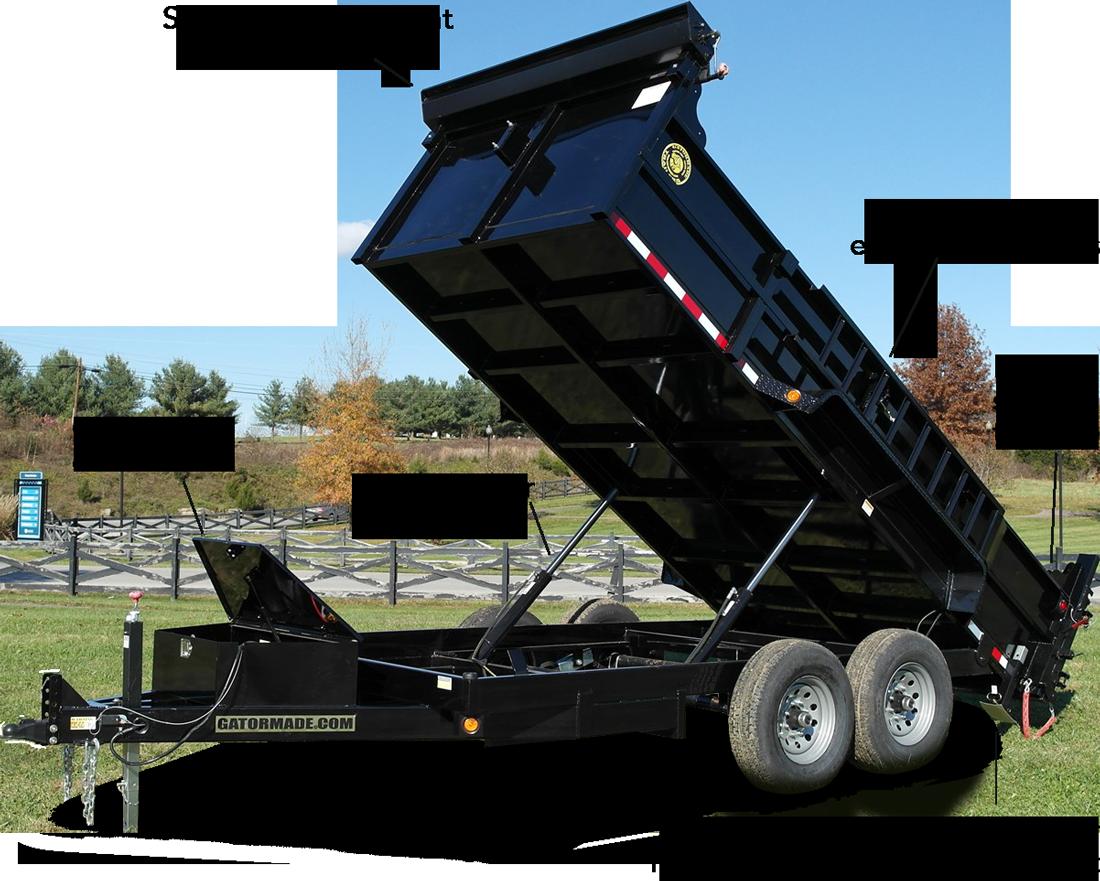 Gatormade Trailer Wiring Diagram Gator 7 Pin 7x14 14k Bumper Pull Dump Trailers 20ft Flat