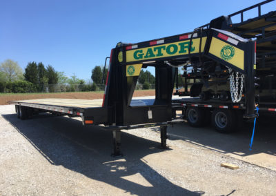 Custom 45′ Flatbed Air Ride Hot Shot Trailer