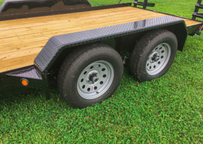 Car hauler trailer with stand-up ramps